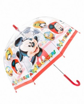 Paraguas Disney Mickey Largo manual Rojo - 65cm | Maletia.com