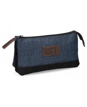 Estuche Pepe Jeans Blue 73 Azul - 22cm | Maletia.com