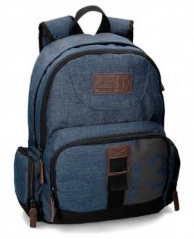 Pepe Jeans Blue 73 Mochila adaptable Azul 0