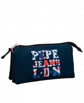 Pepe Jeans Letters Logo Estuche Azul