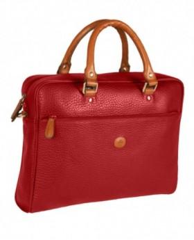 Bolso de Piel Rosme Buggy Rojo - 39cm | Maletia.com
