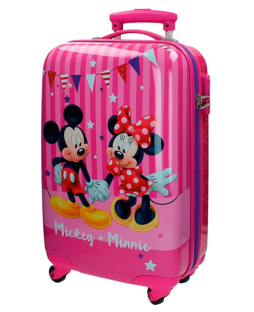 Disney Mickey & Minnie Maleta de mano Rosa (Foto )