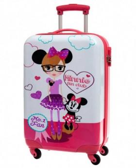 Disney Minnie Fan Club Maleta mediana Rosa