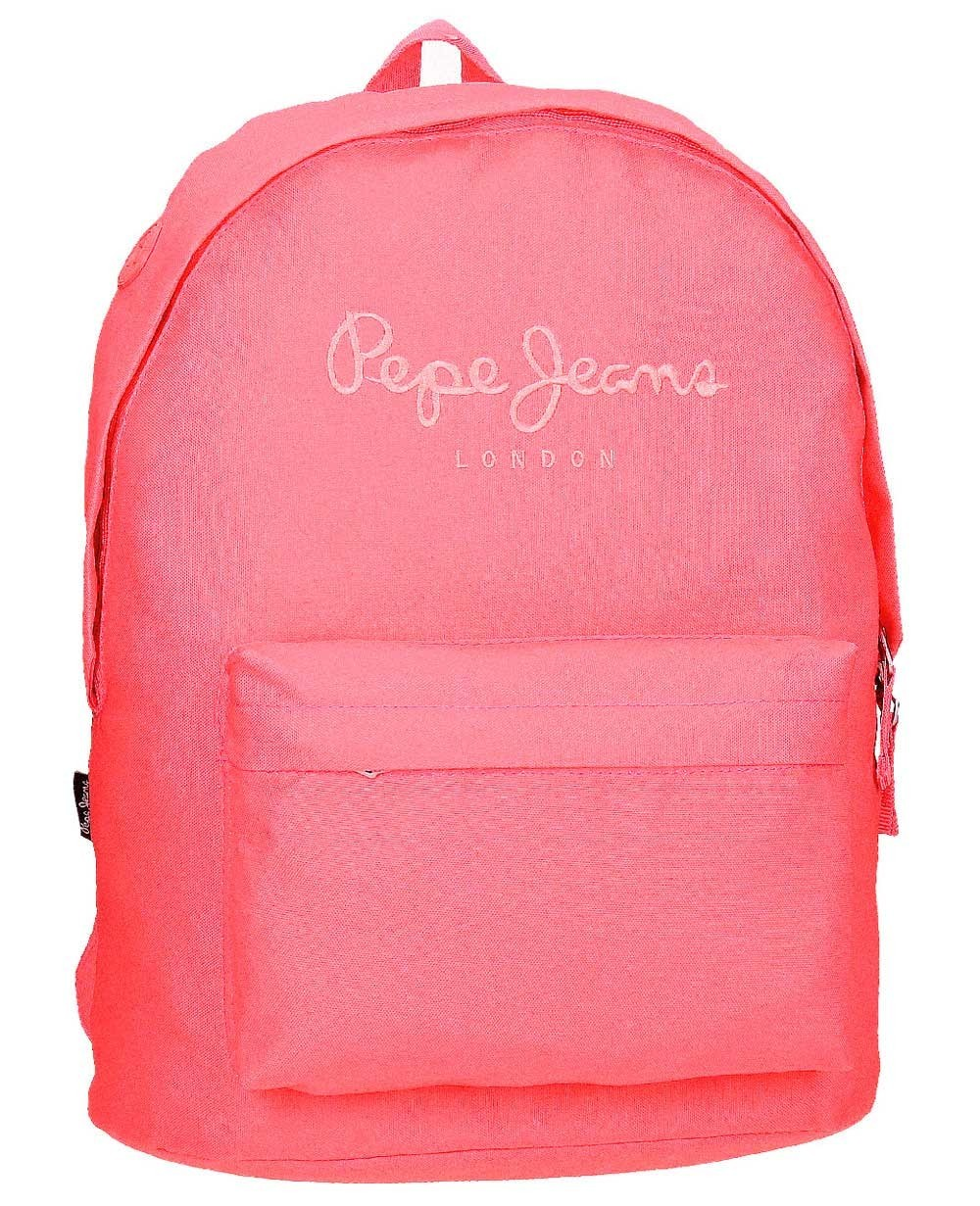 Pepe Jeans Plain Color Mochila adaptable Rosa (Foto )