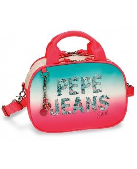 Neceser Pepe Jeans Nicole Rosa - 28cm | Maletia.com