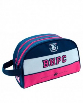 Neceser Beverly Hills Polo Club - Tricolor Girl Rosa  | Maletia
