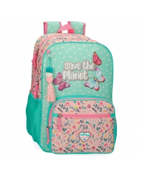 Movom Mochila  Save the Planet Doble Compartimento Adaptable Multicolor - 1