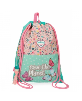 Mochila saco  Save the Planet Movom Multicolor 42cm | Maletia.com