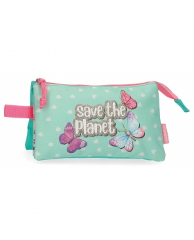 Movom Estuche  Save the Planet Tres Compartimentos Multicolor - 1