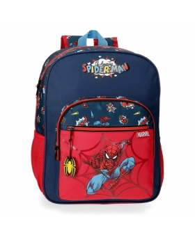 Spider-Man Mochila Escolar Spiderman Pop Adaptable Multicolor - 1