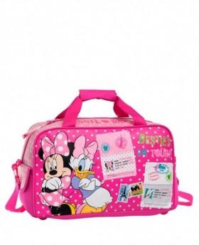 Bolsa de Viaje Disney Minnie & Daisy Rosa - 45cm | Maletia.com
