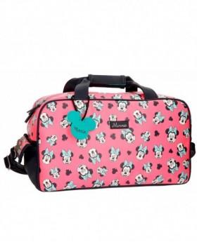 Disney Minnie Wink Bolsa de Viaje Rosa 0
