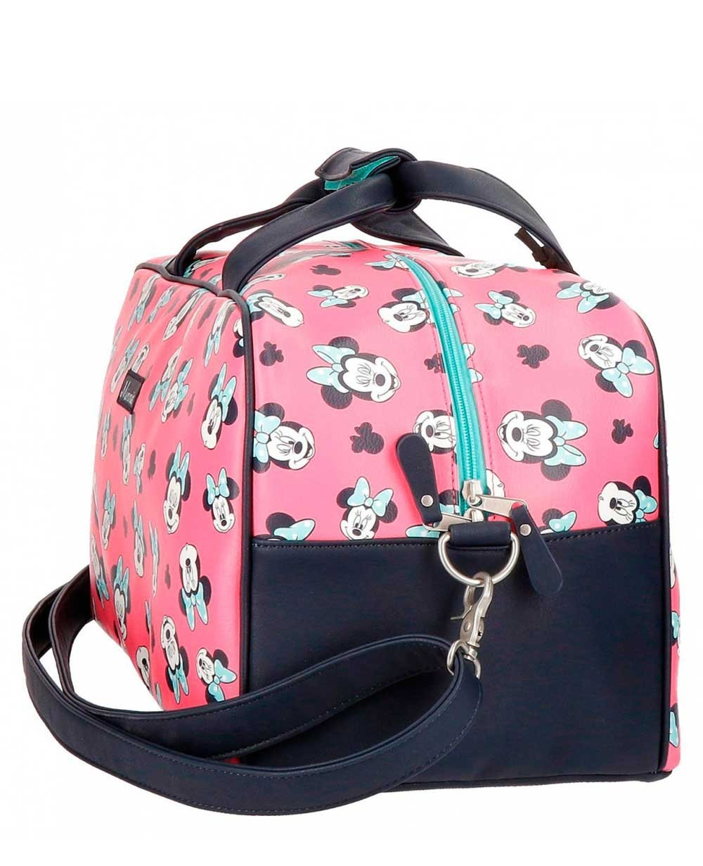 80ee2b5a4 Bolsa de Viaje Disney Minnie Wink Rosa - 45cm | Maletia.com