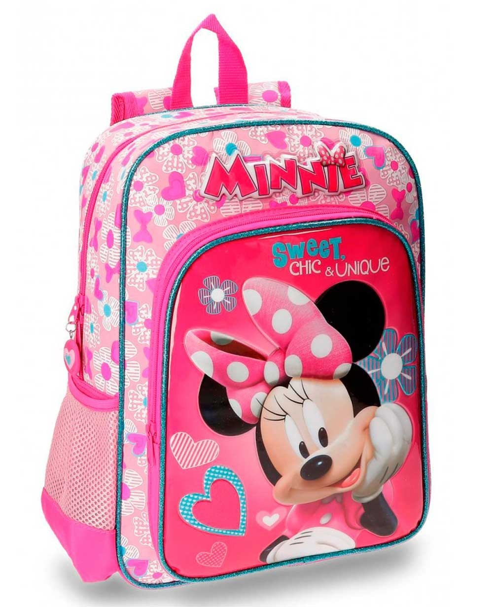 Minnie Fabulous Mochila Preescolar adaptable Rosa (Foto )