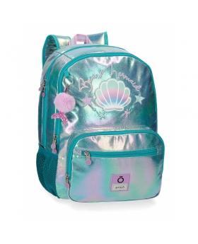 Enso Mochila  Be a Mermaid Doble Compartimento Adaptable Verde - 1