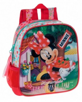 Disney Strawberry Minnie Mochila Preescolar Rosa 0