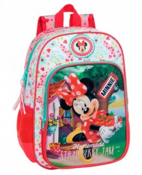 Disney Strawberry Minnie mochila adaptable Rosa