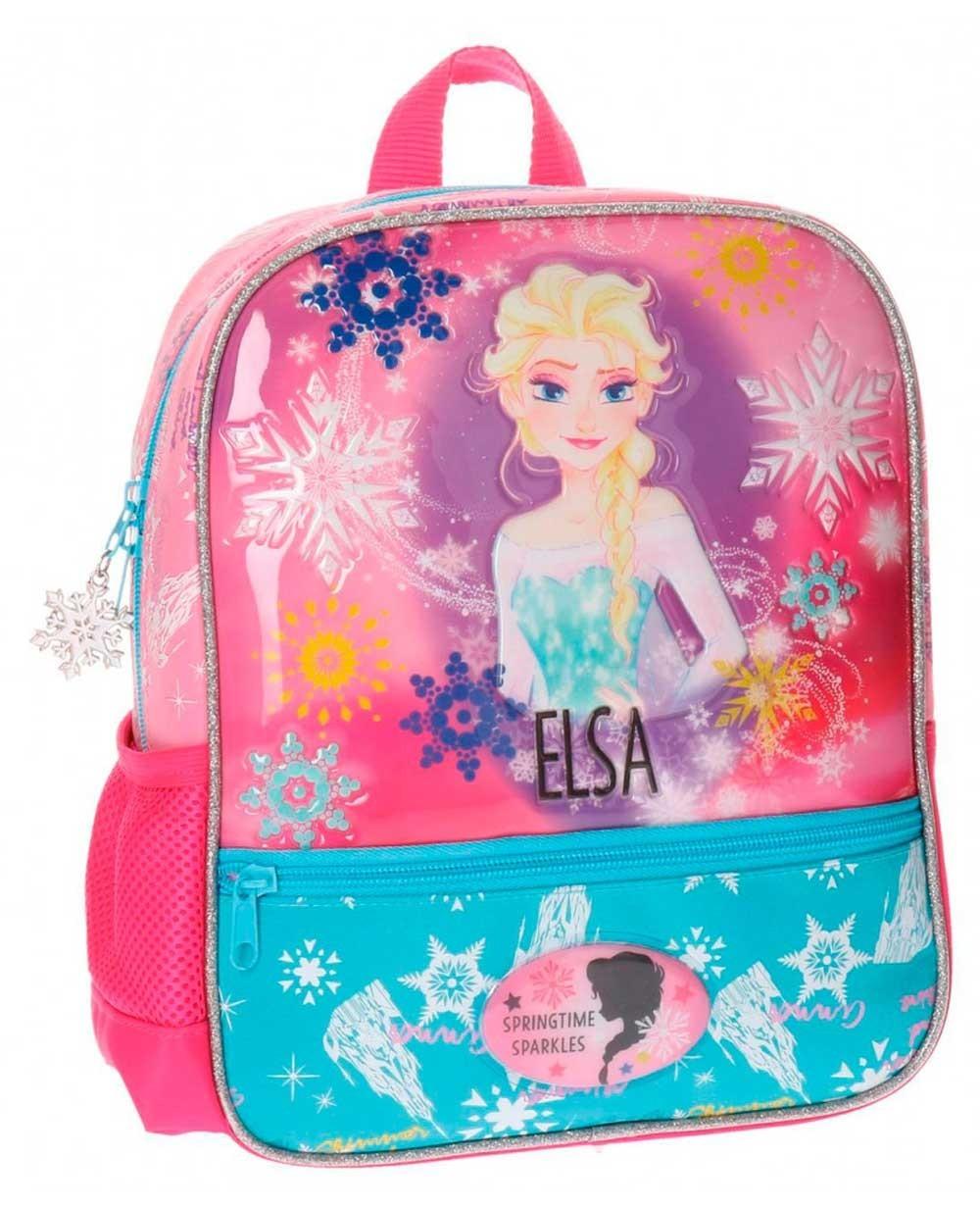 Frozen Elsa mochila preescolar Rosa (Foto )