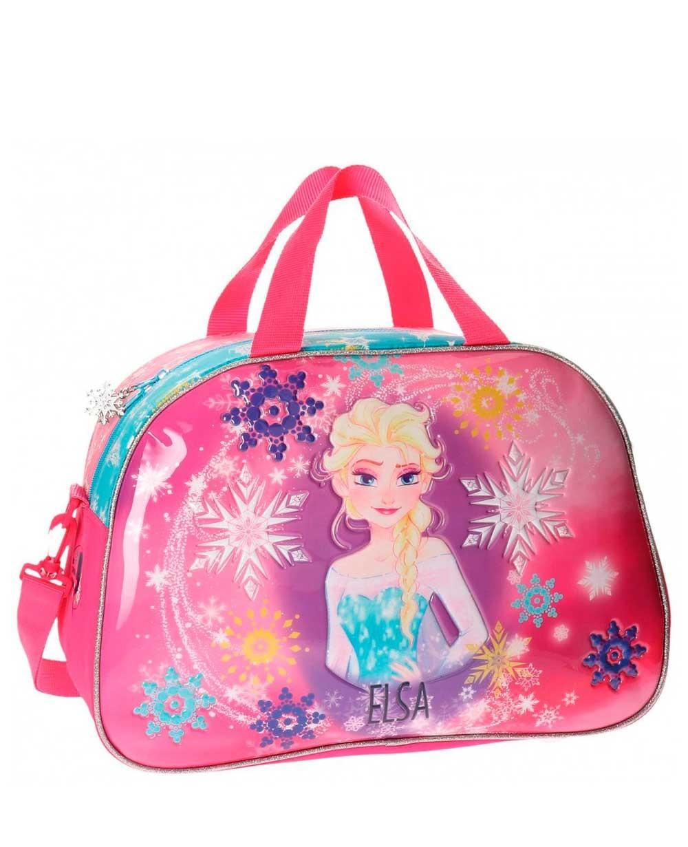 Frozen Elsa Bolsa de Viaje Rosa (Foto )