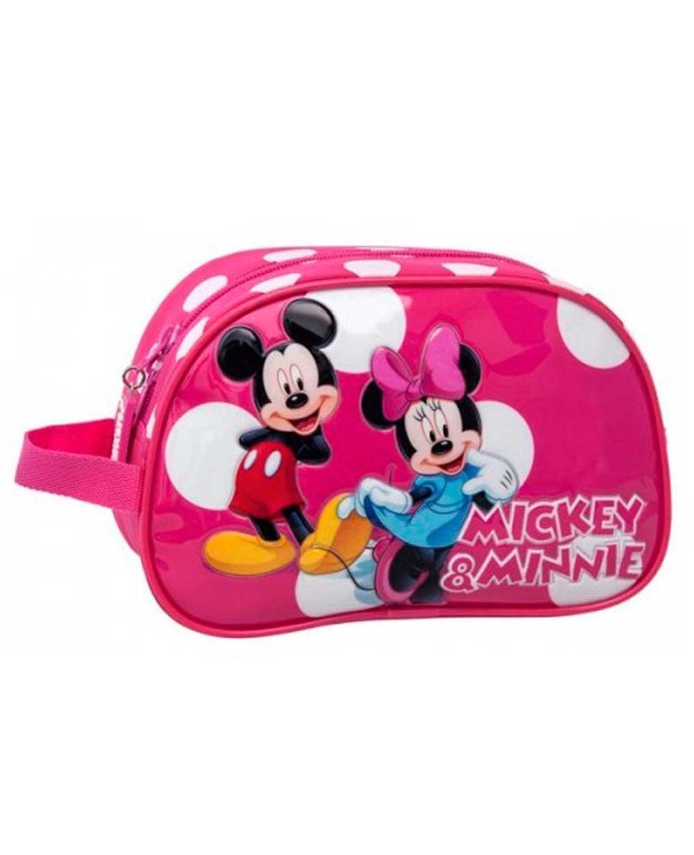 Mickey & Minnie Lunares Neceser Rosa (Foto )