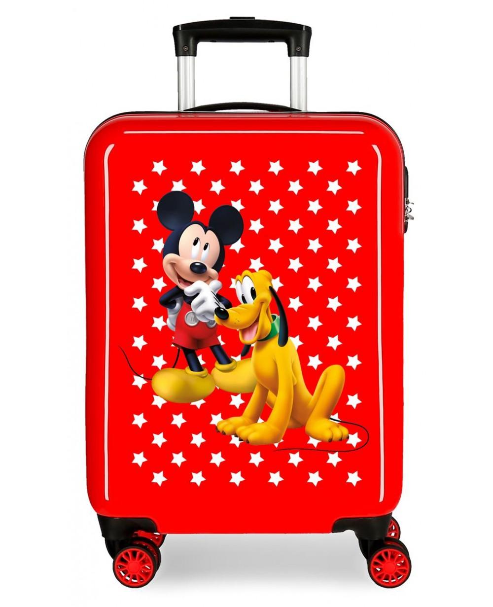Mickey Maleta de cabina rígida Mickey & Pluto Stars Roja (Foto )