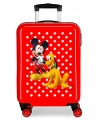 Mickey Maleta de cabina rígida Mickey & Pluto Stars Roja