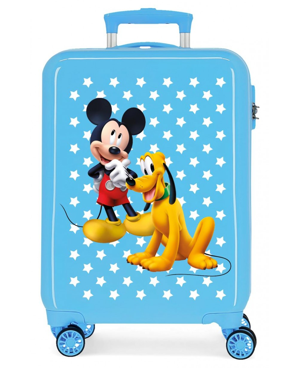 Mickey Maleta de cabina rígida Mickey & Pluto Stars Azul (Foto )