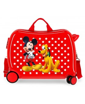 Mickey & Pluto Stars Correpasillos Rojo