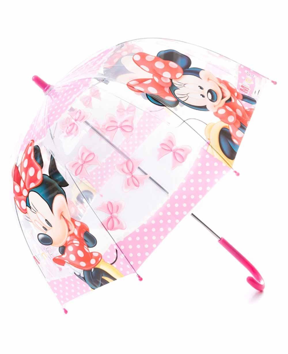 comprar mejor calidad y cantidad asegurada zapatos genuinos DISNEY Paraguas largo manual Transparente Rosa