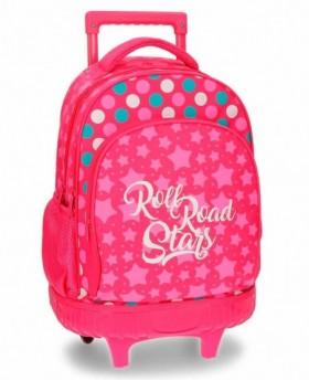 Roll Road Stars Mochila con ruedas Rosa 0