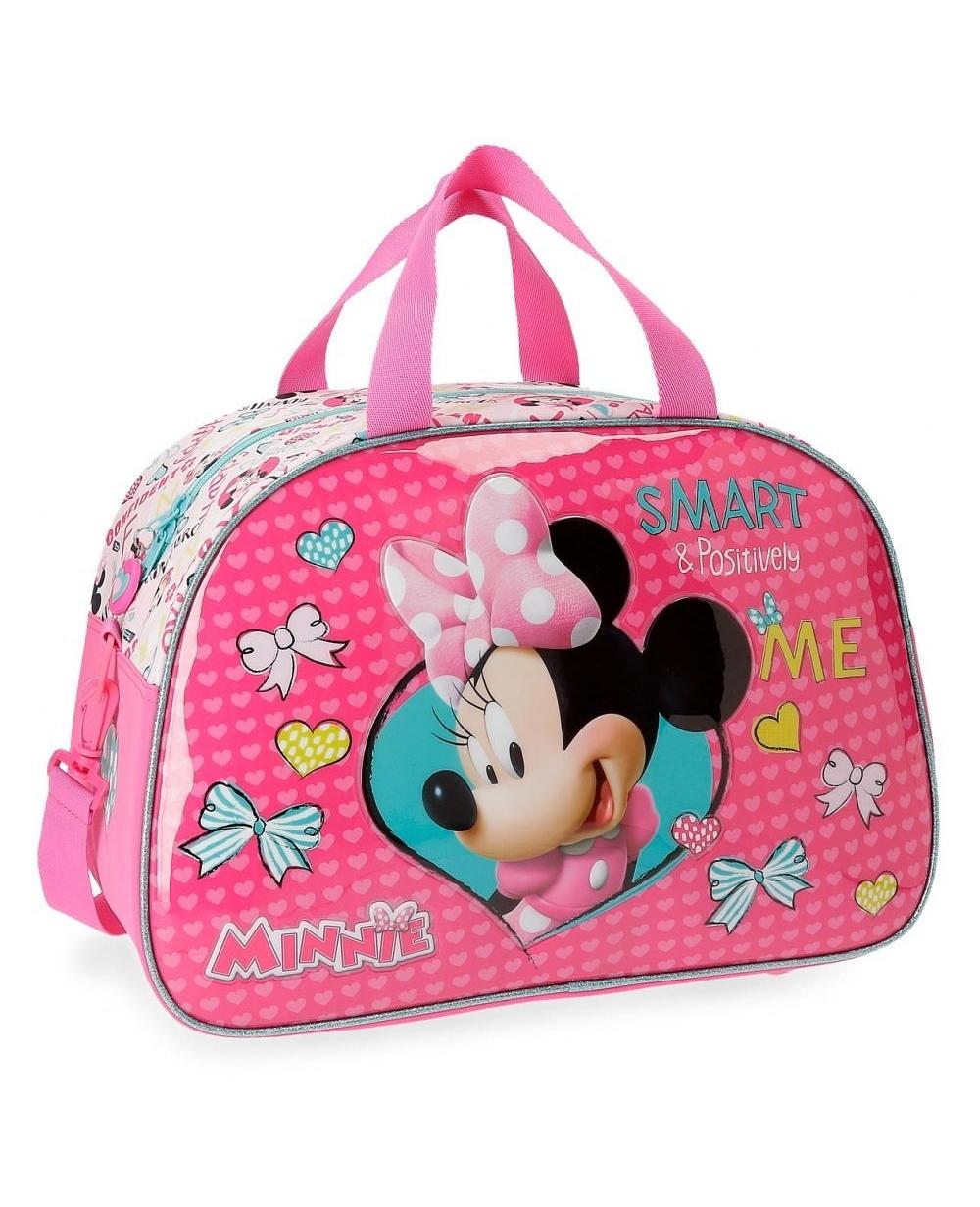 Minnie Happy Helpers Bolsa de viaje Rosa (Foto )