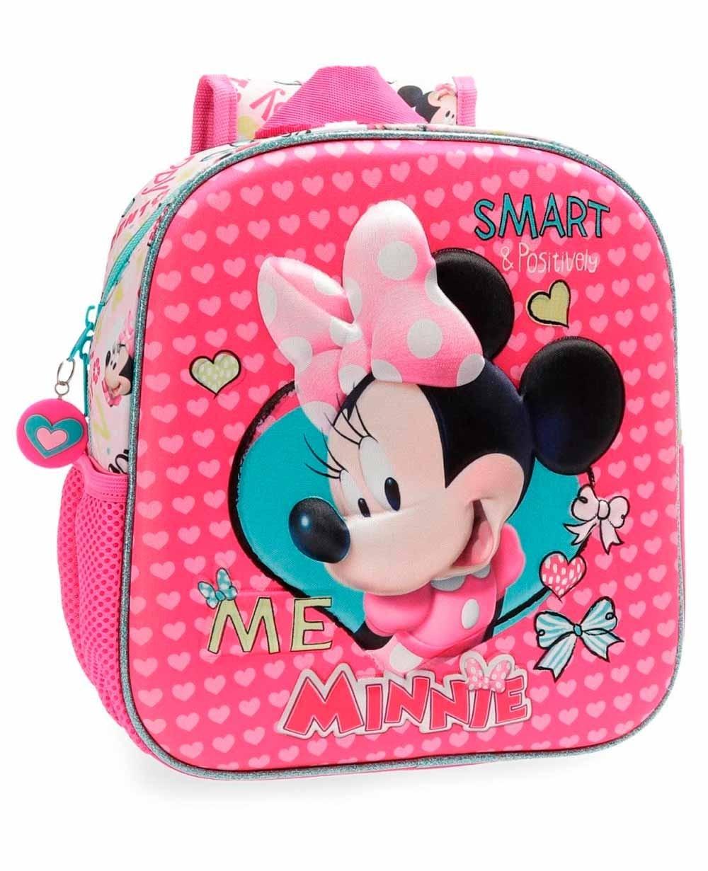 Disney Minnie Happy Helpers 3D Mochila preescolar Rosa (Foto )