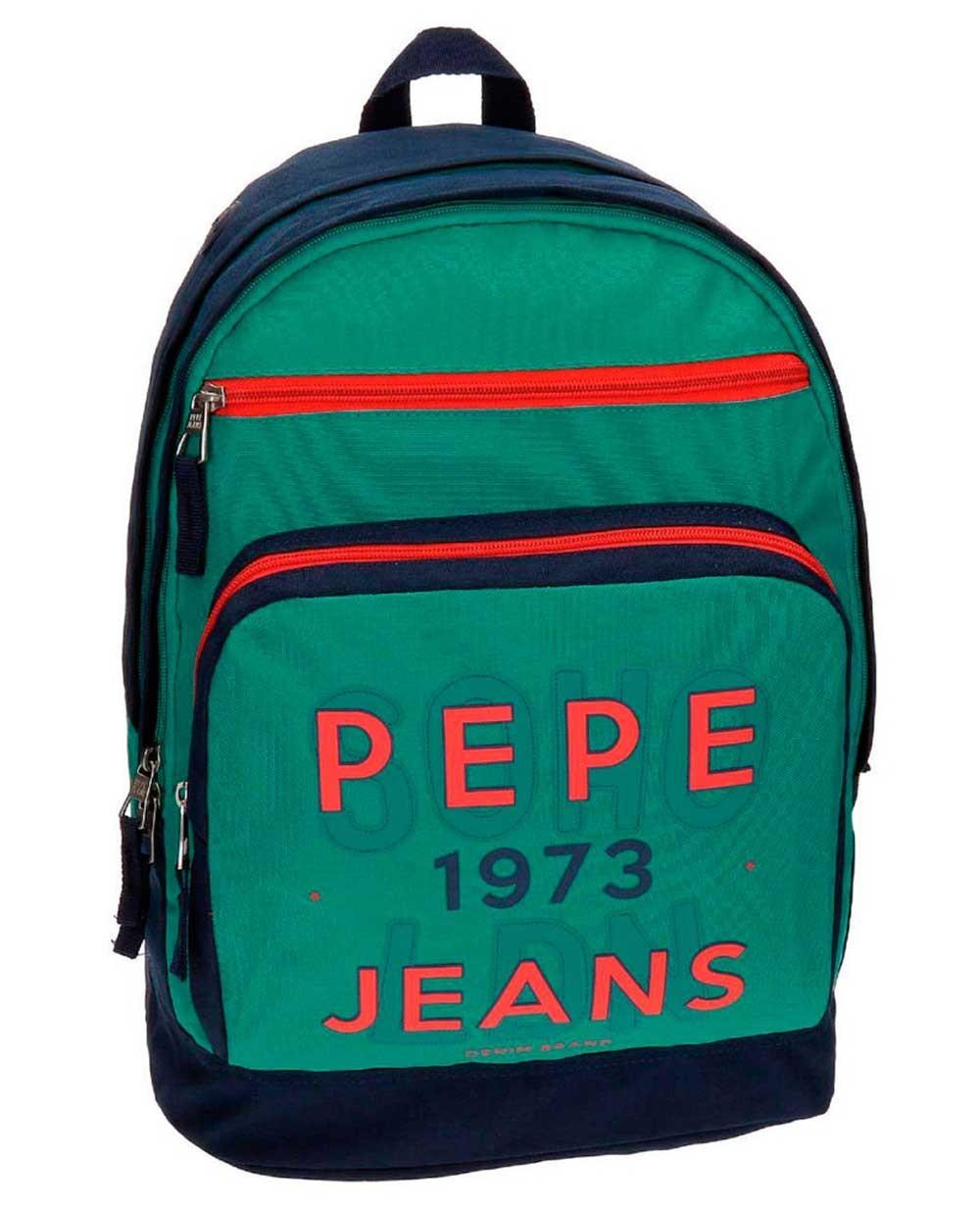 "Pepe Jeans Reed 15"" Mochila adaptable Verde"