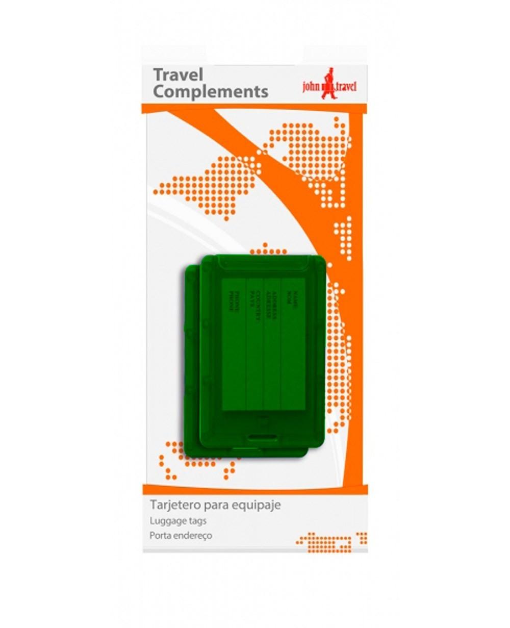 John Travel Tarjetero para equipaje Verde (Foto )