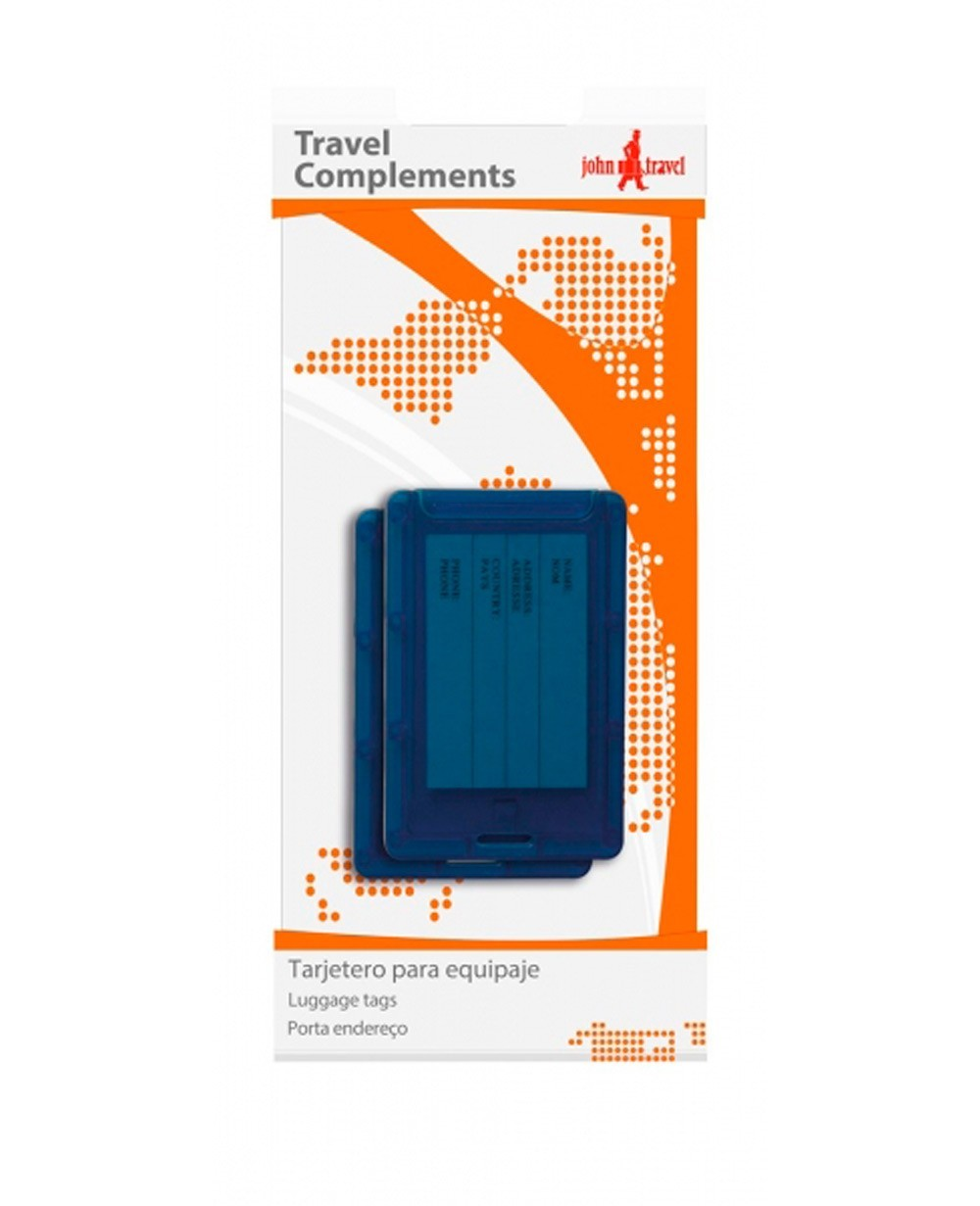John Travel Tarjetero para equipaje Azul (Foto )