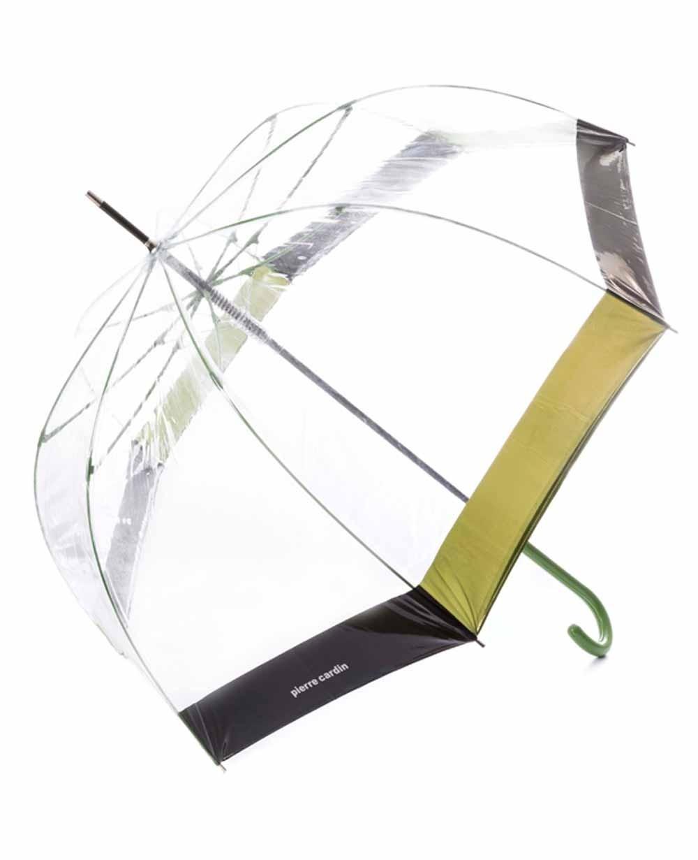 Pierre Cardin Paraguas largo automático Transparente (Foto )