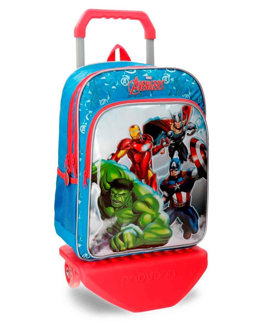 Marvel Avengers Clouds Mochila con carro Azul (Foto )