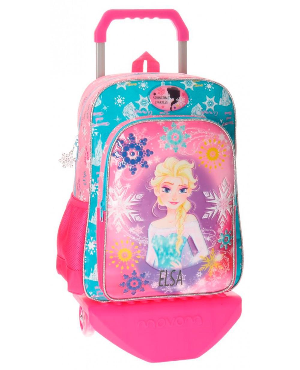 Disney Frozen Elsa mochila con carro Rosa (Foto )