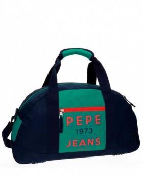 Bolsa de Viaje Pepe Jeans Reed Azul - 50cm | Maletia.com