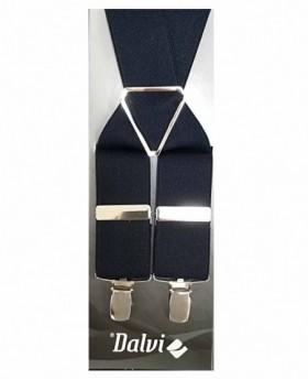 Tirantes Dalvi Lisos en Azul Marino - 110cm | Maletia.com