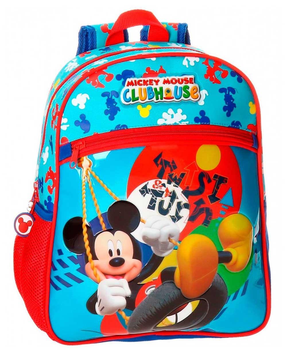 Disney Mickey Twist Mochila Preescolar Azul (Foto )
