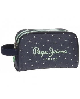 Neceser Pepe Jeans Dots Azul - 26cm | Maletia.com