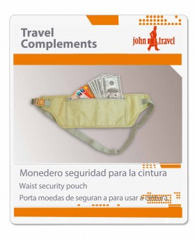 Monedero de seguridad John Travel - 20cm | Maletia.com