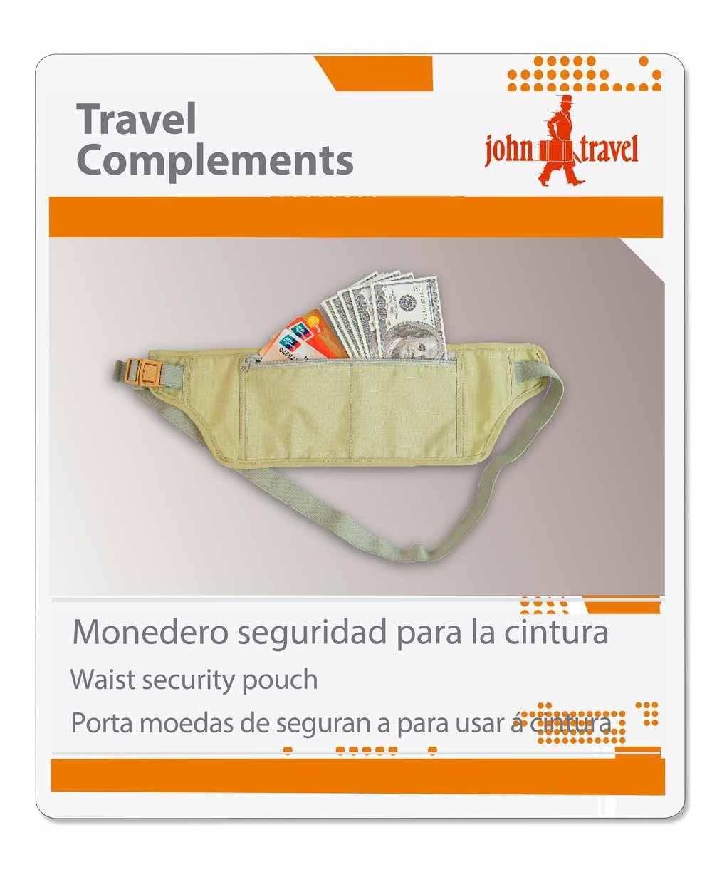 John Travel Monedero de seguridad para cintura (Foto )