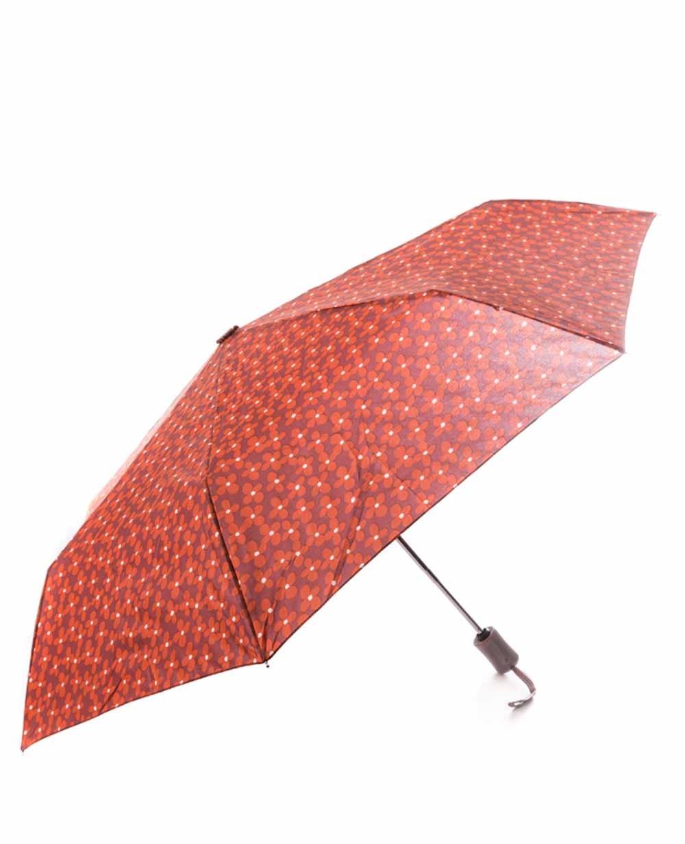 C-Collection Paraguas plegable automático Marrón (Foto )