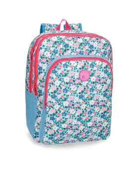 Mochila adaptable Roll Road Pretty Blue Estampado - 45cm | Maletia.com