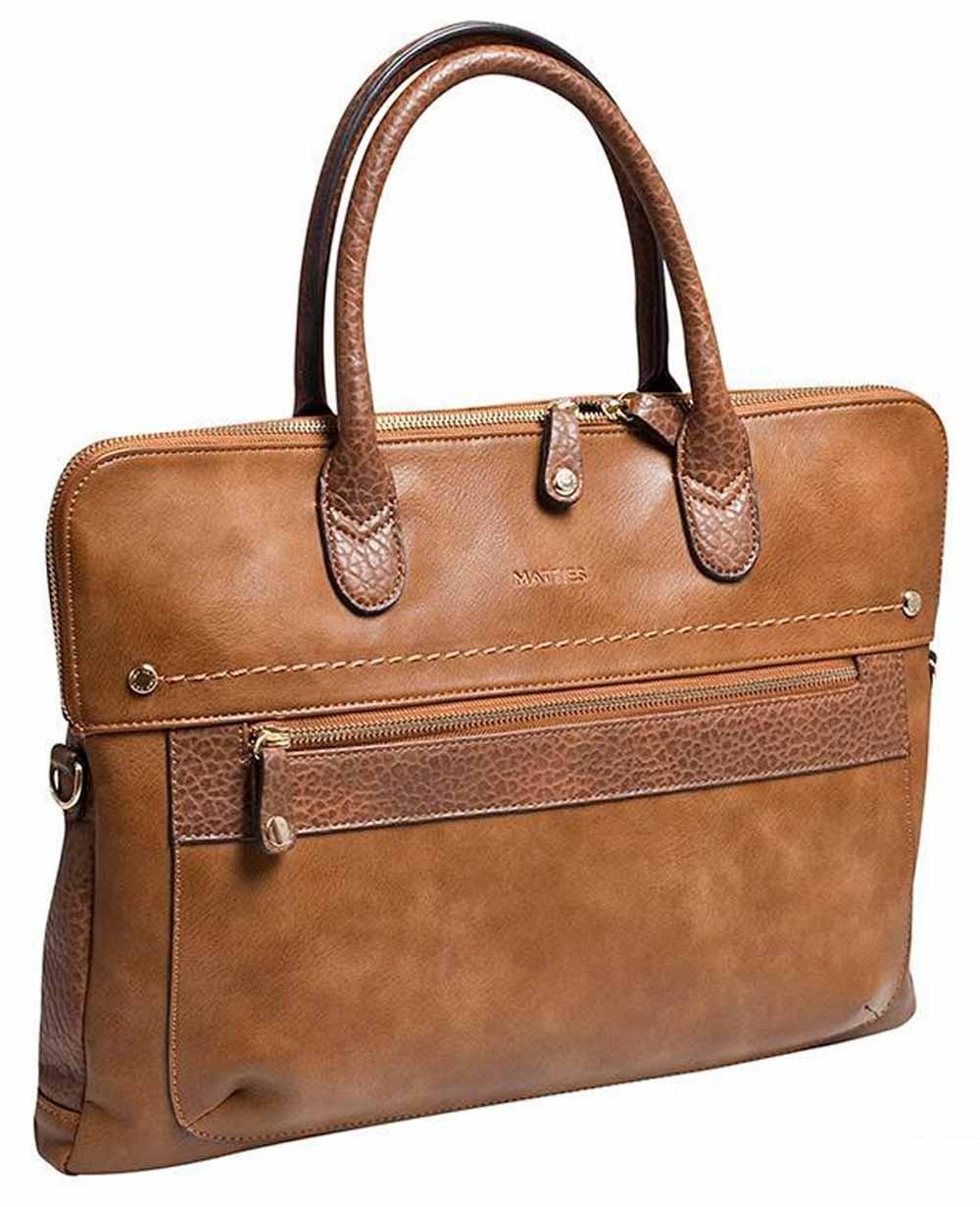 """Matties Bags 15.6"""" Portadocumentos Cuero (Foto )"""