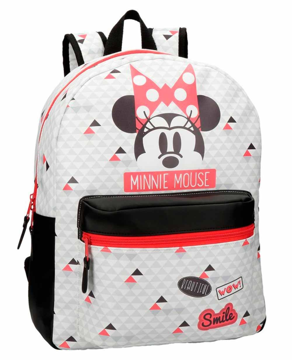 Minnie Wow Mochila adaptable Blanca (Foto )