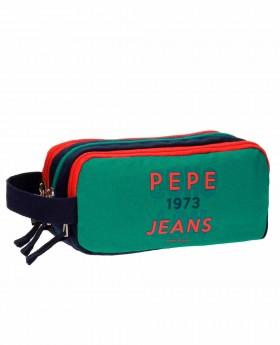 Estuche escolar Pepe Jeans Reed Verde - 22cm | Maletia.com