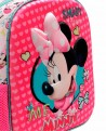 Minnie Happy Helpers 3D Mochila preescolar Rosa (Foto 4)